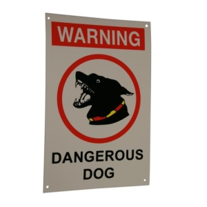 Dangerous Dog Sign